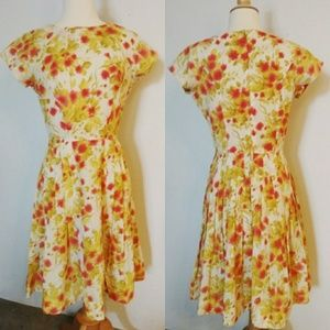 Vintage floral picnic dress fit and flare AS IS